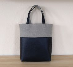 Reversible tote bag by orshie on Etsy, Reversible Tote Bag, Black Faux Leather, Reusable Tote Bags, Buy And Sell, Velvet, Gifts, Handmade, Stuff To Buy, Etsy