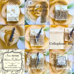 Soap Wedding Favors, Soap Favors, Rustic Wedding Favors, Wedding Ideas, Bridal Shower Decorations, Bridal Shower Favors, Bridal Shower Invitations, Organic Coconut Oil, Organic Oil