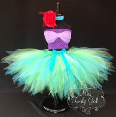 Ariel princesse peu Mermaid Tutu Costume