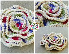 wavy layers scrubbie - free crochet pattern