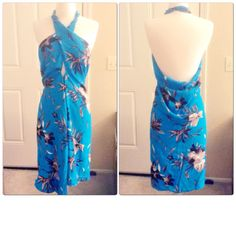 Pretty wrap style halter overall- great for beach, vacation, poolside. http://etsy.me/1RaGlKQ