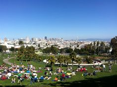 Mission Dolores Park | When the weather is nice, this spot is not to be missed. Not only are the views killer, offering up the beautiful downtown San Francisco skyline from certain vantage points, but the people watching is unmatched.