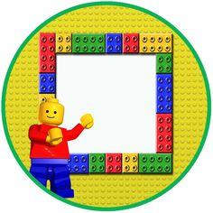 """Convites Digitais Simples: Kit de Aniversário Digital Tema """"Lego"""" para Imprimir"""