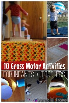 Water lesson plan for toddlers lesson plans toddlers for Gross motor skills for infants