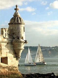 """Lisbon, Portugal- was there... """"""""~~~~~A Torre de Belém é um dos monumentos mais expressivos da cidade de Lisboa. Localiza-se na margem direita do rio Tejo, na freguesia de Belém, onde existiu outrora a praia de Belém~~~~~"""""""