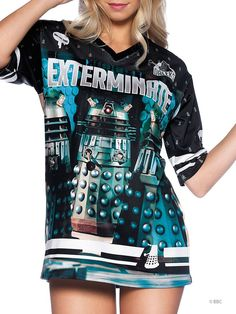 Exterminate the competition with the Dalek Touchdown jersey.
