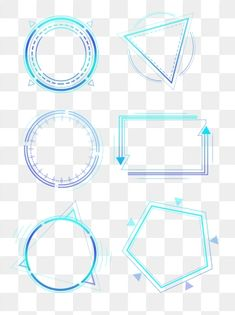 Tech border gradient geometric round frame box dialog set PNG and PSD Geometric Box, Geometric Lines, Geometric Background, New Background Images, Lights Background, Chroma Key, Paint Explosion, Dialogue Bubble, Simple Borders