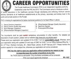 Pakistan Employment: The Punjab Healthcare Commission (PHC) Jobs Latest...