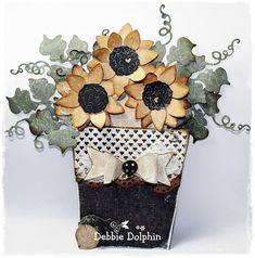 Debbie Dolphin: Autumn Love & Flower Pot Card ♥︎