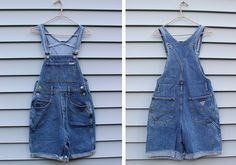 Vintage VTG Vg 1990's 90's 1980's 80's GUESS Brand Overalls Shorts Hipster Grunge Summer Time Los Angeles Denim Overalls Jeans USA Size 3 4 by foxandfawns on Etsy