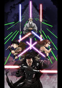 Jedi and Sith Star Wars Droids, Star Wars Jedi, Star Wars Art, Star Wars Characters Pictures, Star Wars Images, Darth Bane, Character Art, Character Design, Star Wars The Old