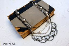 Vintage Rhinestone and Pearl Layered One of a Kind by simplymeart, $86.00