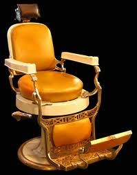 Barber chair. Old school.