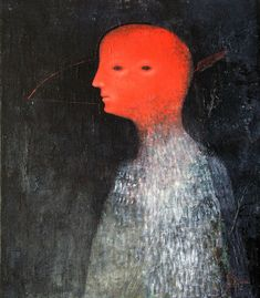 """Mask"" 2006, oil on canvas, board - Alexey Terenin"