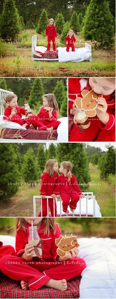 Love these Christmas Photos. But they must live real close to the location to bring a bed to a Christmas tree farm haha! Christmas Tree Farm, Christmas Minis, Christmas Photo Cards, Family Christmas, Christmas Holidays, Outdoor Christmas, Christmas Cookies, Christmas Photo Shoot, Christmas Photoshoot Ideas