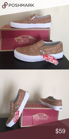 a623407b1a Vans slip on embossed Cork natural new M 7   W 8.5