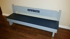Child size Dallas cowboy's bench in Mesquite, TX (sells for $90)