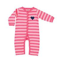 Hudson Baby Girl Pink Coverall with Ruffle