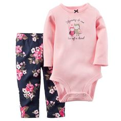 Carters Baby Girls Bodysuit- und Hosen-Set, 2 Teile – Baby Monate) – Kinder & Baby – Macy's Source by whitneynadam . Baby Girls, Carters Baby Girl, My Baby Girl, Baby Love, Baby Outfits, Outfits Niños, Kids Outfits, Winter Outfits, Baby Set