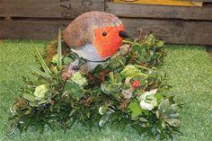 Robin  Tribute funeral flowers