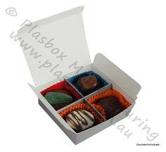 Chocolate box 4 Cavity Silver