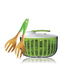 Salad Spinner and Server Set now featured on Fab.