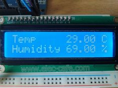 The data from Sensor send to Arduino UNO and then displaying the humidity and temperature on the LCD Display. Parts List Arduino UNO LCD display Automatic Watering System, Humidity Sensor, Temperature And Humidity, Facebook Sign Up, Arduino, Coding, Display, Tech, Ideas