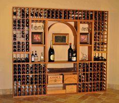 Beautiful wine rack idea