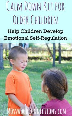 Calm Down Kit for Older Children; Developing Emotional Self-Regulation Pin