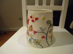 Small embroidered Ikea lampshade Alvine Parla