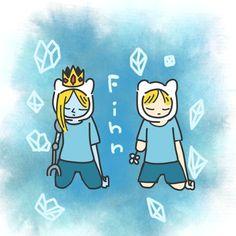 Adventure Time Ice prince Finn and Finn