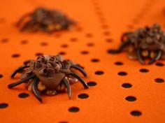 Pecan-Caramel Spiders Recipe : Food Network Kitchen : Food Network - FoodNetwork.com