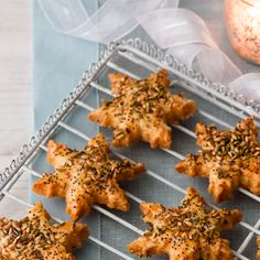 Seeded cheese biscuits are perfect for a party as they are rich, filling, deliciously cheesy and easy to make ahead.