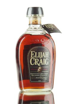 Elijah Craig 12 year old, a big and powerful Kentucky straight bourbon whiskey from Heaven Hill, bottled at barrel proof (cask strength) 70.1%. If you like your Bourbon, this is a must try, a superb American whiskey.