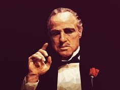 Marlon Brando Low Poly by Shyam B