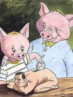 Piggy Bank pay back - Funny Jokes, Memes, Cartoons . Funny Images, Funny Pictures, Funny Pics, Beste Comics, Sketch Manga, Mundo Dos Games, Parallel Universe, Humor Grafico, Funny Cartoons