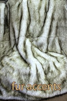 "70"" Russian Wolf / Alaskan Huskie Faux Fur Throw Blanket / Accent  Rug / Realistic Fake Hide / Soft Plush Fur Throw Blanket NEW. $198.00, via Etsy."