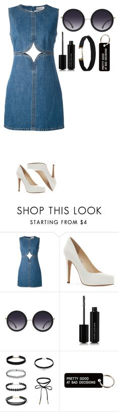 """Untitled #517"" by dutchfashionlover ❤ liked on Polyvore featuring Courrèges, Jessica Simpson, Alice + Olivia, Marc Jacobs, Various Projects, casual and denim"