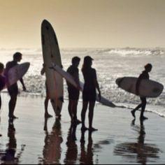 Life = Surf Buddies (dad, Josh, Joel, Jer, Sofia and i surfing)