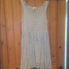 Altr'd State dress Baby blue, button up front, laced back for a more snug fit. Worn once. Could use an ironing from hanging in the closet. Altar'd State Dresses Mini
