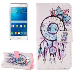 [USD2.41] [EUR2.18] [GBP1.69] For Samsung Galaxy Grand Prime / G530 Believe Windbell Pattern Horizontal Flip Magnetic Leather Case with Holder and Card Slots & Wallet