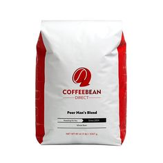 Coffee Bean Direct Poor Man's Blend, Whole Bean Coffee, 5-Pound Bag -- For more information, visit now : Fresh Groceries