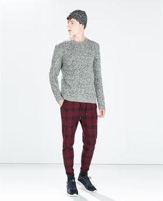 ZARA - MAN - CHECKED TROUSERS