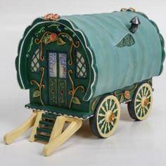 Green Gypsy Caravan Gypsy Caravan, Building A House, Green, Home, Gypsy Wagon, Ad Home, Homes, House