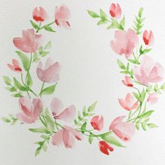 Paint with me! Learn how to create this watercolor floral wreath, even if you're a beginner!