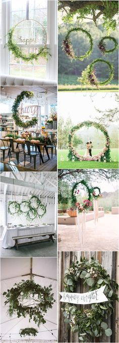 Wedding Decorations » Top 22 Creative DIY Wedding Wreath Ideas Worth Stealing » ❤️ More: http://www.weddinginclude.com/2017/05/creative-diy-wedding-wreath-ideas-worth-stealing/ #weddingdecorationscreative #weddingideas