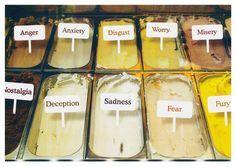 Choices, the gelato flavours Gelato Flavors, Love Ice Cream, Frozen Desserts, No Worries, Food, Greek Tragedy, Autumn, Visual Communication, Sadness
