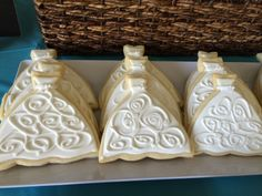 Bridal Dress Cookies made by Stacey. AMAZING