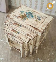 For orders and information please call 0531 305 06 82 whatsapp # masko # modoko # ankaramobilya # s . Diy Furniture Redo, Decoupage Furniture, Refurbished Furniture, Handmade Furniture, Shabby Chic Furniture, Painted Furniture, Modern Furniture, Diy Vintage, Handmade Home