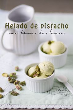 helado casero de pistacho